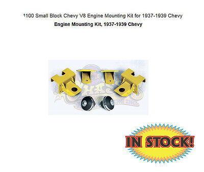 Chassis Engineering CP-1100 - 1937-39 Chevy Engine Mounts with SB Chevy