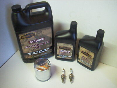 Service Kit for Harley-Davidson 1340 Evolution Oil, Filter & Plugs