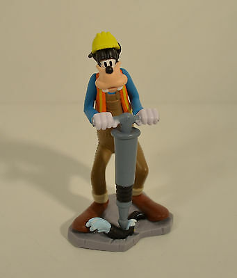 "4"" Goofy Road Constuction Worker Jack Hammer PVC Action Figure Disney Goof Troop"