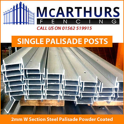 Single Posts for 2.0M Palisade Fencing - 102 x 55 Steel Galvanised