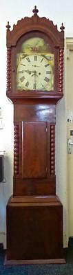 19thc Welsh Mahogany 8 day Longcase Clock -Evan Davies, Merthyr -with provenance