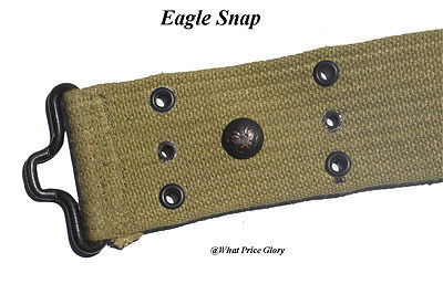 Mills M1912 Pea Green Pistol belt with Eagle Snap and Saber Chape - LARGE size