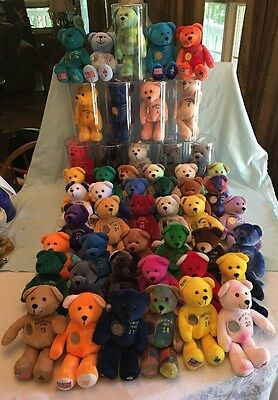 Timeless Toys Original Collectible State Quarter Bears #1-50 Complete With Coins