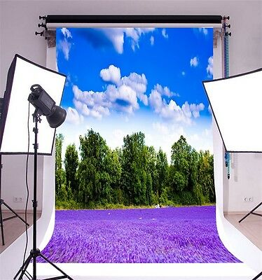 Vinyl 5x7ft Lavender Photo Background Photography Wall Backdrop Studio Props New