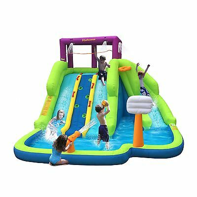 Magic Time Triple Blast Kids Outdoor Inflatable Splash Pool Backyard Water Slide