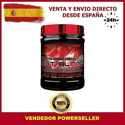 HOT BLOOD 3.0 300gr SCITEC NUTRITION Sabor TROPICAL - OXIDO NITRICO PRE-WORKOUT