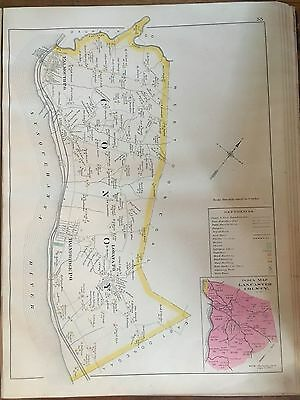1899 Conoy, Lancaster East Donegal To Dauphin County Pennsylvania Plat Atlas Map