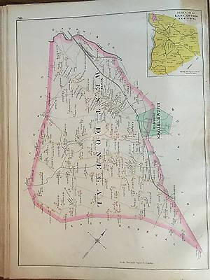 1899 West Donegal, Lancaster County Pennsylvania  Atlas Map