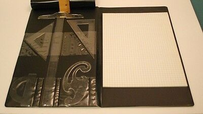 Vintage Westinghouse Logo Notebook Padfolio With Drafting Tools, Rulers