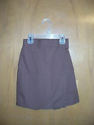 Girl Scouts official uniform Brownie skort skirt shorts elastic size S small