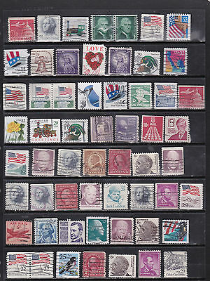USA - Large Selection of Coil and Booklet Stamps  2 SCANS (USA10062)