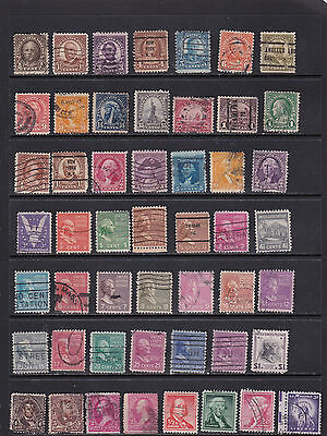 USA - Large Collection of Defintives  2 SCANS (USA10063)