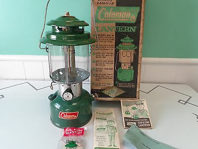 Vintage 1966 Coleman  220F Lantern ~~ Unfired!! With Original Box And Paperwork