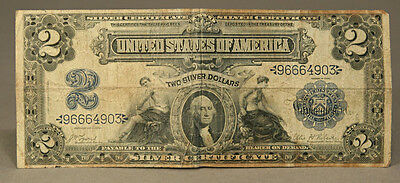 Rare Two Dollar Silver Certificate 1886 Vg Condition With Intact Corners