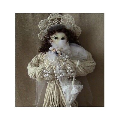 """Handcrafted Bride Mop Doll Wedding Gifts Vintage Collectible Beautiful 24"""" Tall"""