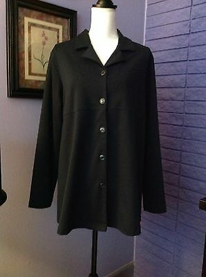 In Due Time Maternity Jacket Sz. M Polyester/Cotton BlackWhite Front Buttons