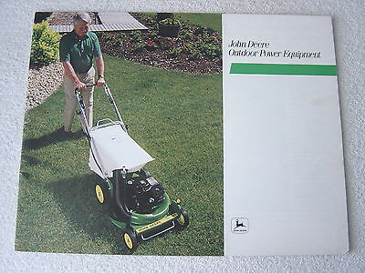 John Deere Tiller Trimmer +++ Outdoor Power Equipment 1983 Dealer Sales Brochure