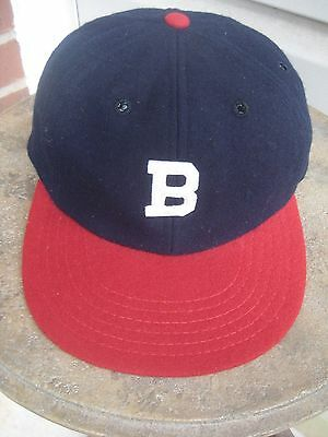 1947-1950 Boston Braves Game Worn Used Hat Autographed by Warren Spahn