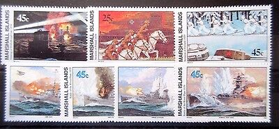 Marshall Islands 1989 History of WWII. 1st,2nd,3rd & 4th Issues. MNH.
