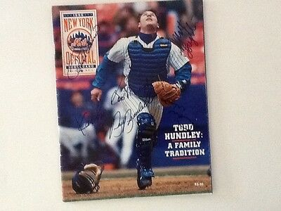 NY Mets 1996 Autographed Program Cover