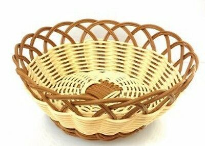 Natural and Brown Color Poly Woven Bread/Food Basket