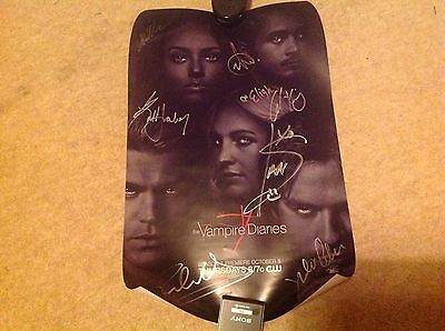 The Vampire Diaries TVD - SDCC San Diego Comic Con 2015 Poster - SIGNED!