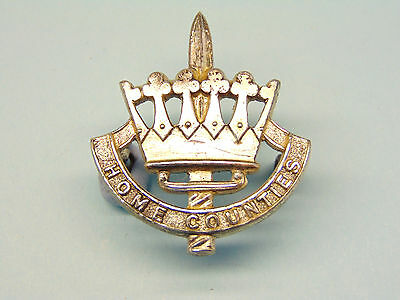 """The Home Counties Brigade Officer""""s Cap Badge ."""