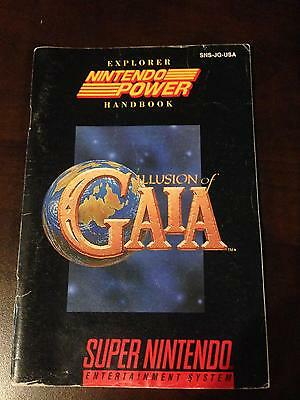 Illusion of Gaia SNES Super Nintendo Manual only