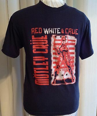 Motley Red White & Crue 2005 Tour T-Shirt Better Live Than Dead Matte Black Sz M