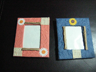 Set of 2 Small Matching Paper  Picture Frames