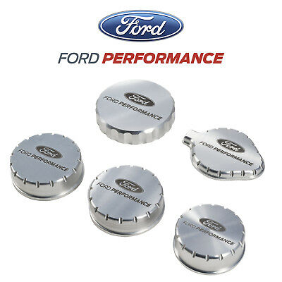 2016-2017 Mustang GT350 GT350R Ford Performance Billet Engine Cap Covers 5pc Set