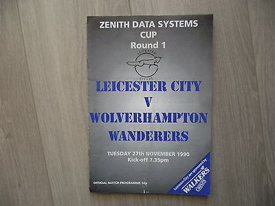 1990-91 Leicester City v Wolves Zenith Data Cup Round 1