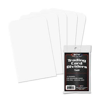 BCW Tall Trading Card Dividers 50 Qty. White Plastic