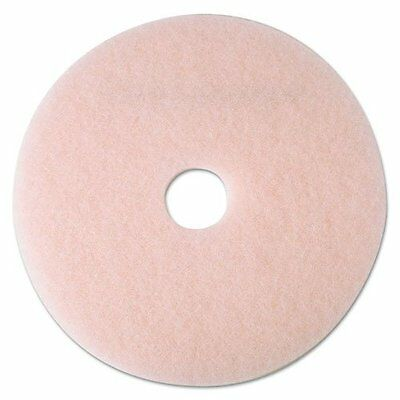 "3m 25859 Ultra High-speed Eraser Floor Burnishing Pad 3600, 21"", Pink, 5/carton"