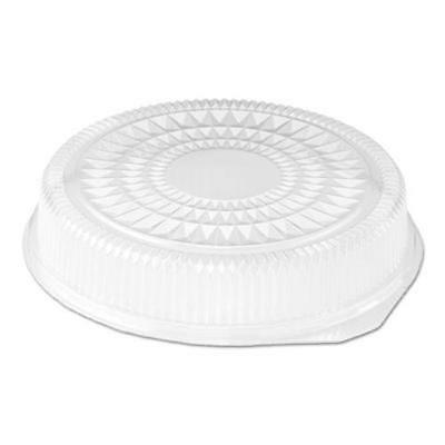 Handi Foil 2012DL Plastic Dome Lid, Round, Embossed, Clear, Fits 212/213,