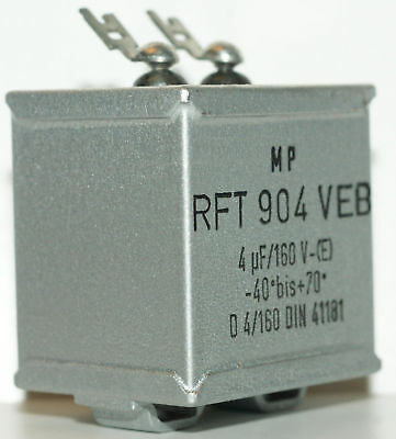 20x Paper-in-Oil Capacitor 4MFD 160V NOS Tube Amplifier (nur 4,99 Euro/Stk)