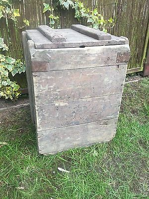 Vintage military wooden army munitions ammunition case WW2