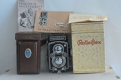 Rolleiflex 3.5 MX EVS Automat ( K4B ) Tessar Type 1 with Cap, Case and Box