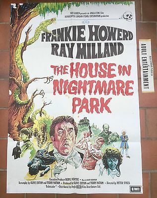 The house in Nightmare Park UK 1 sheet film poster *  Frankie Howerd  * Rare *