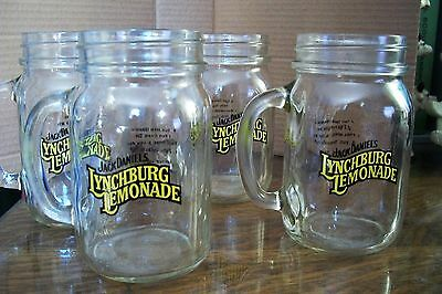 Set of Four Jack Daniel's Lynchburg Lemonade ynchburg Mason Drinking Glasses