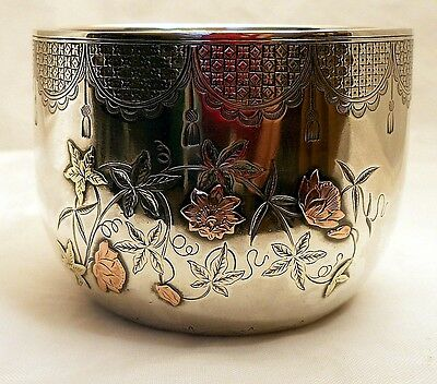 A small sterling silver bowl in the Aesthetic style, F. Elkington, Birmingham 18