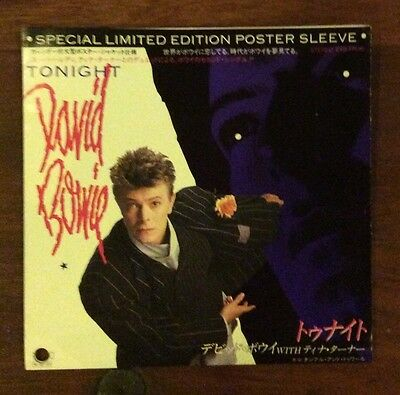 David Bowie Tonight  Rare Japan Promo Disc Picture Sleeve