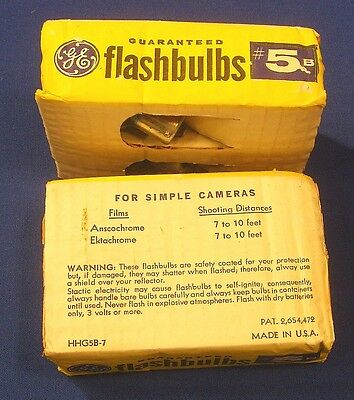 Vintage GE Flash Bulbs #5B for Simple Cameras Blue Lot of 8