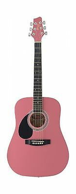Stagg SW201 3/4 LH PK Dreadnought 3/4 Model Left Handed Acoustic Guitar Pink