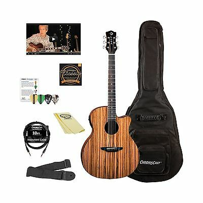 Luna Guitars Gypsy Acoustic-Electric Guitar Kit with ChromaCast Accessories