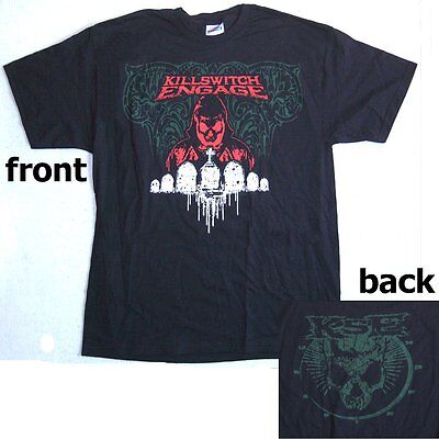 Killswitch Engage Cemetery Monk Image Kse Logo Blk T-Shirt Small New