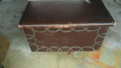 Vintage Leather Cedar Chest