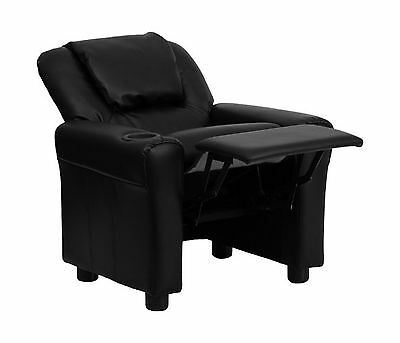 Flash Furniture DG-ULT-KID-BK-GG  Contemporary Black Vinyl Kids Recliner with...