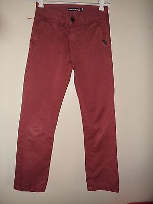 Boys Youth Quiksilver Dark Red Maroon Jeans Pants Size 12