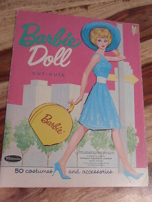 Vtg 1962 Barbie Doll Paper Doll Whitman